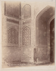 Tatta, Karachi District, Sindh. Jami Masjid, portion of central bay of façade